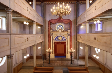 The newly reconstructed Old Synagogue is open to visitors
