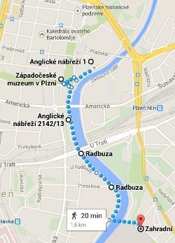 Abend-Spaziergang entlang der Radbuza