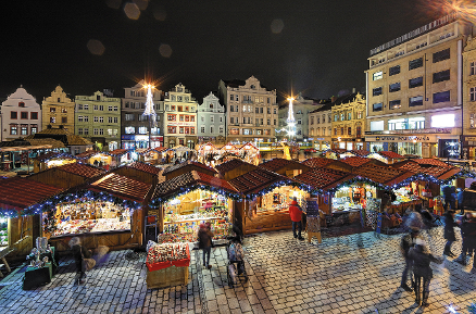 Advent Time and Christmas Market in Pilsen