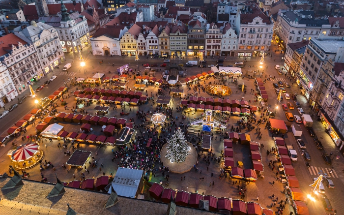 Each year Christmas market in Pilsen in the Czech Republic has a really charming atmosphere.