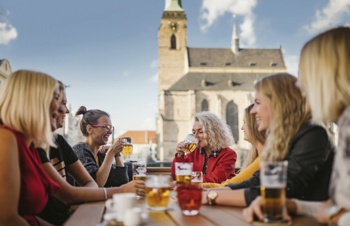 You can enjoy great moments over a glass of beer in Pilsner pubs and restaurants.